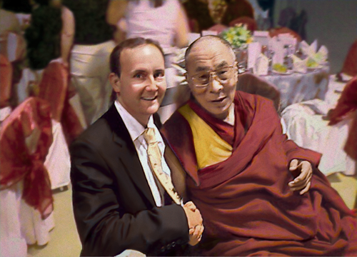 Chris Griffiths with Dalai Lama