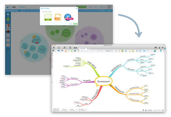 DropTask iMindMap Integration